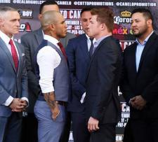 Cotto vs. Canelo staredown